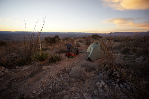 mariscal canyon overlook campsite big bend national park