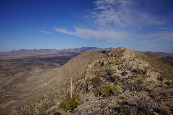 looking north along mariscal mountains in big bend