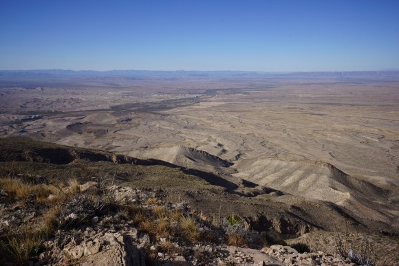 view of the rio grande from mariscal mountains