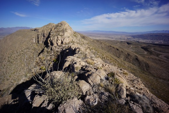 walking the spine of big bend's mariscal mountain rrange