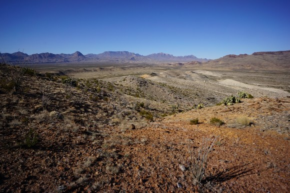 nearing mariscal mine in big bend