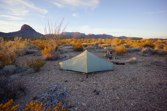 big bend campsite along elephant tusk trail in the desert