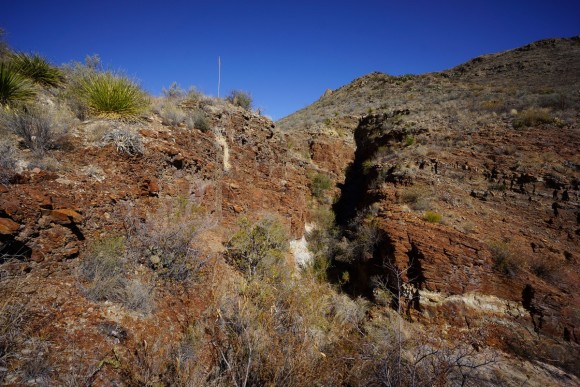 narrow red rock canyon along elephant tusk trail in big bend national park