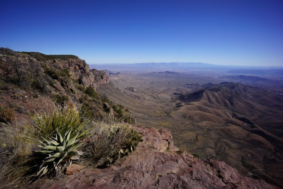 view from the south rim in big bend national park chisos mountains