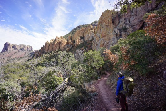 the pinnacles trail in the chisos mountains, big bend national park