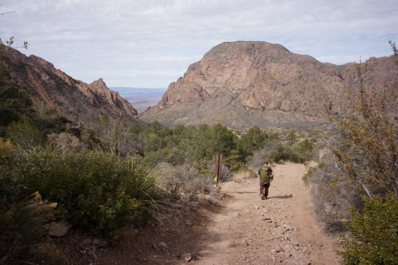 end of the pinnacles trial in the chisos basin