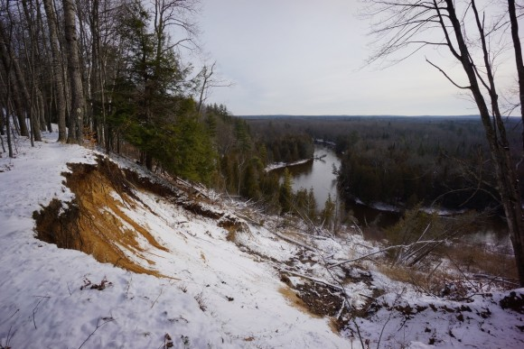 view of bluff along manistee river