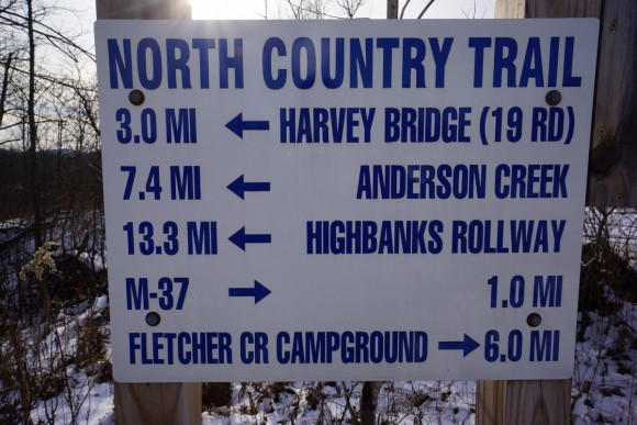 trailhead at 12 15 rd for north country trail