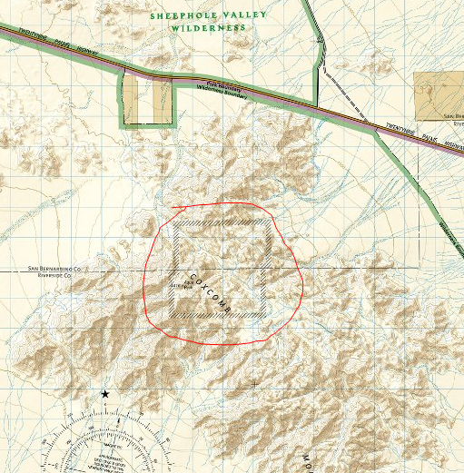 inner basin day use area boundary lines marked on a map